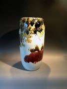 Dubbel lagige glazuur en prachtige herfsttinten Afm. :  60 cm hoog - diameter 30 cm