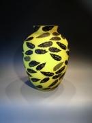 Artist : Deng Zhendong Afm.  : 41 cm hoog - diameter 28 cm. Drie lagen glas