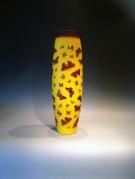 Artist : Deng Zhendong Afm.  : 48 cm hoog - diameter 17 cm 3 lagen glas