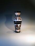 Artist : Deng Zhendong Afm   : 25 cm hoog - diameter 12 cm 3 lagen glas