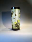 Artist : Deng Zhendong Afm   :  45 cm hoog - diameter 18 cm 3 lagen glas